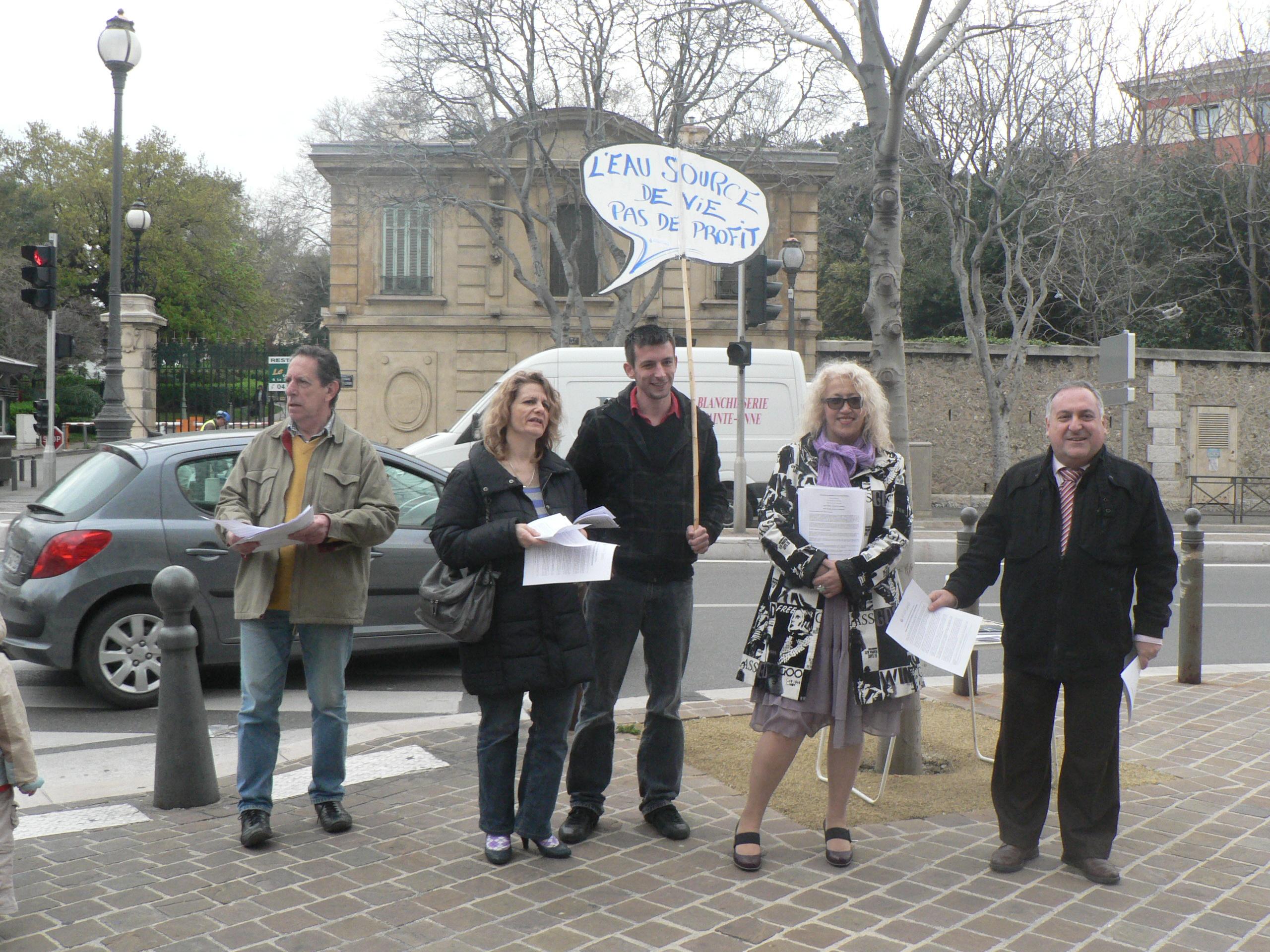 vœux du groupe communiste de la mairie du premier secteur : Pour une réappropriation publique et citoyenne de l'eau !