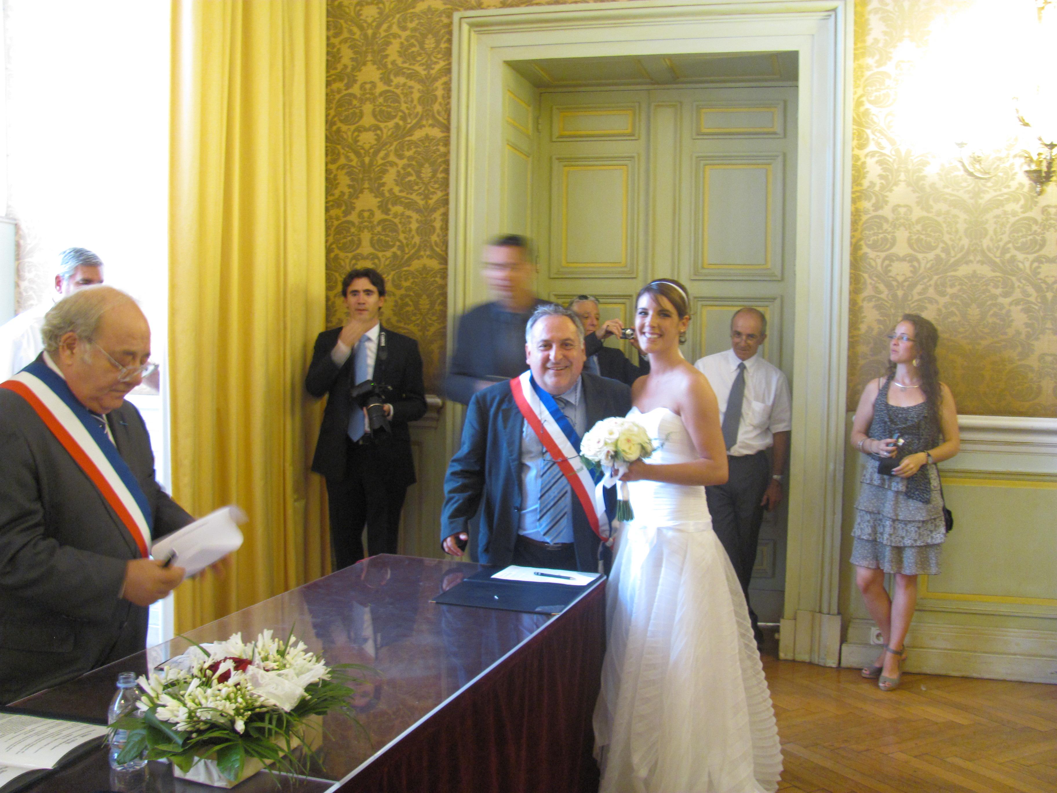 Nous avons fait un mariage à deux voix pour  Leticia !