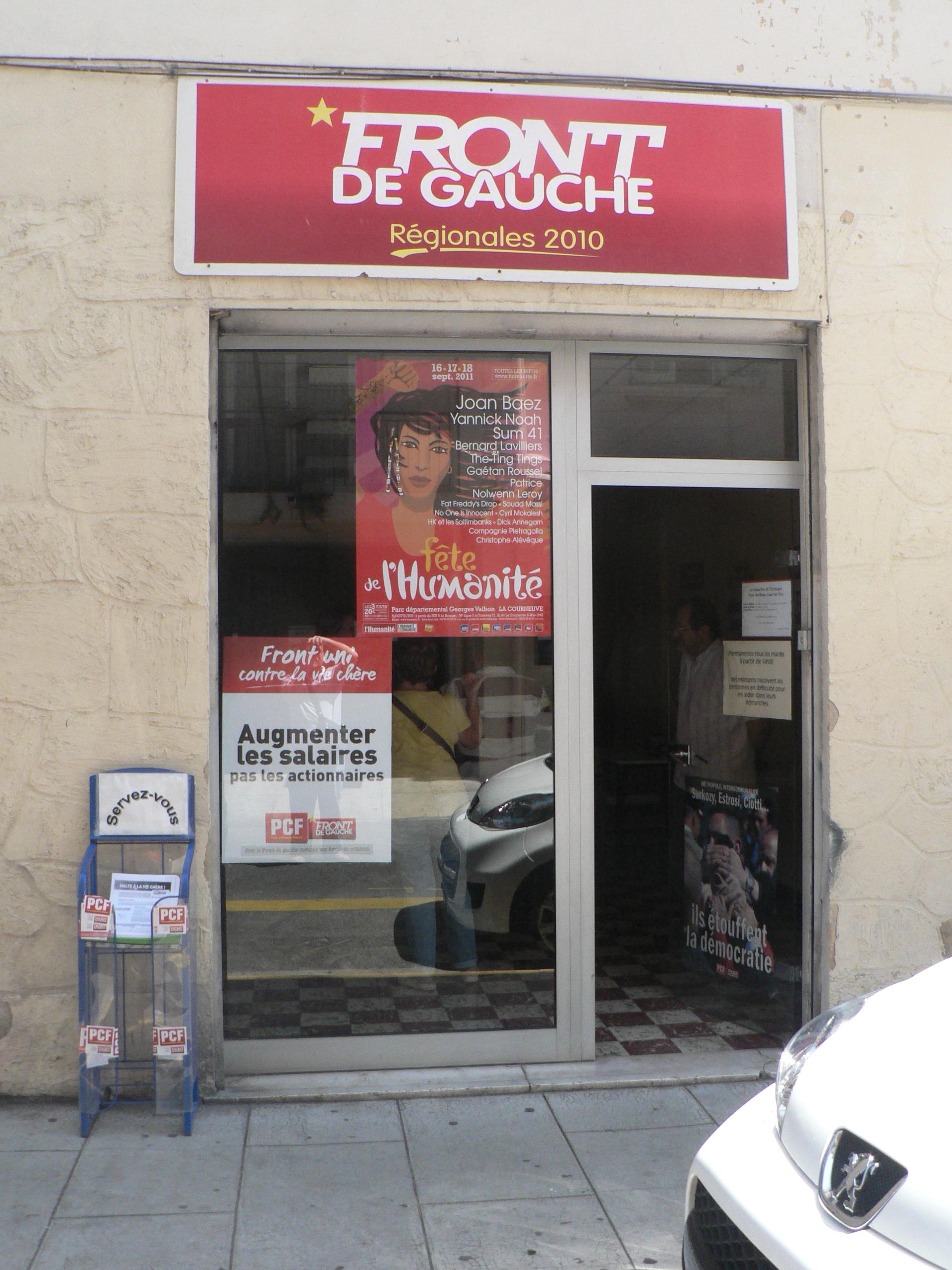 Antibes : Ambiance Front de Gauche dans la ville !