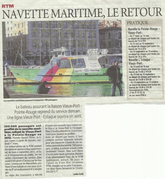 Navettes maritimes le retour entre vieux port et pointe - Navette vieux port pointe rouge marseille ...