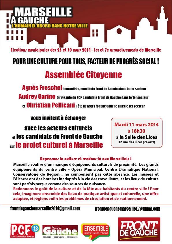 (29) Carnet de Campagne : Soirée culture avec les Front de gauche dans le 1e Secteur !