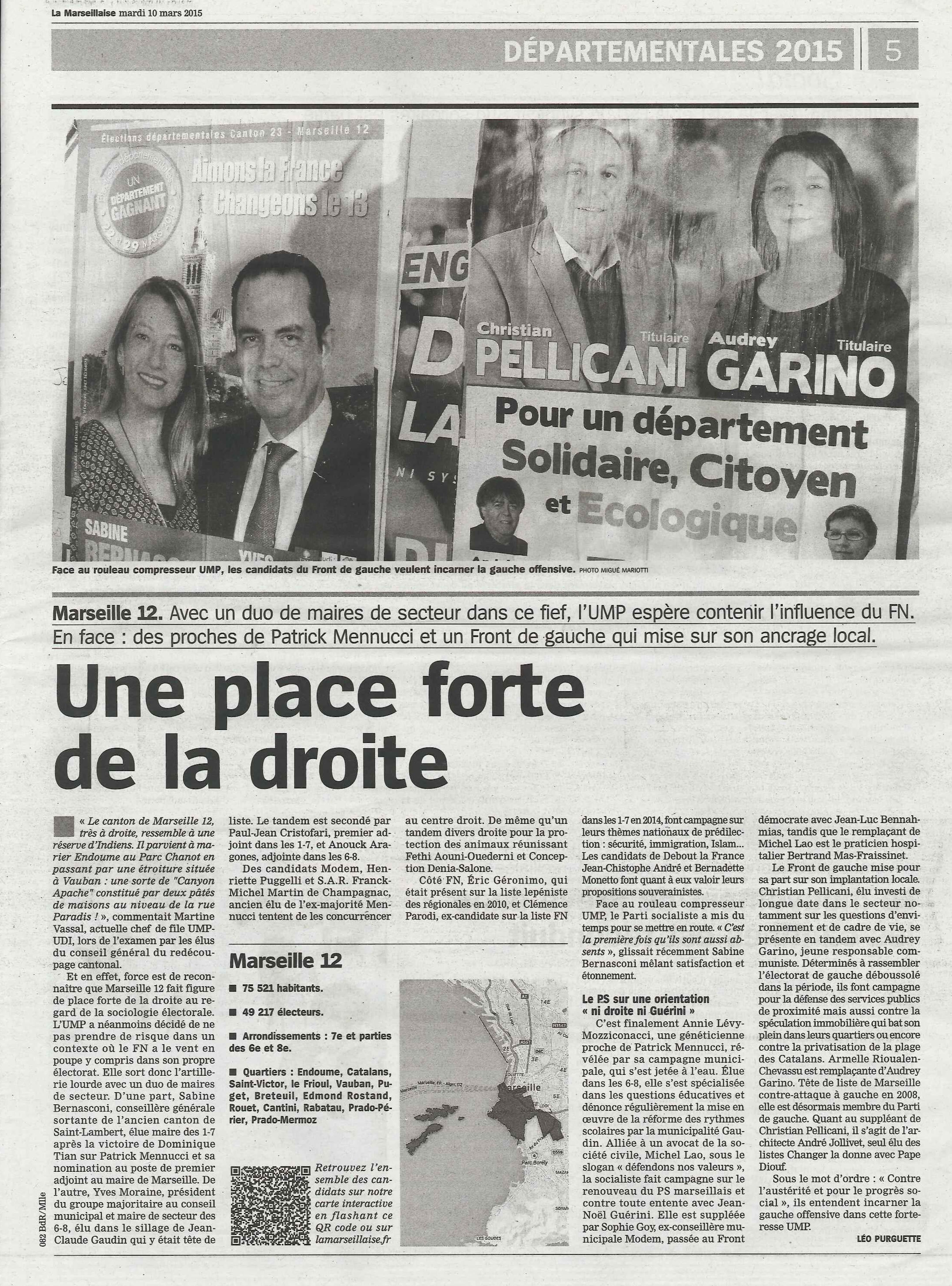 (9) Départementales : La gauche offensive – Marseille 12