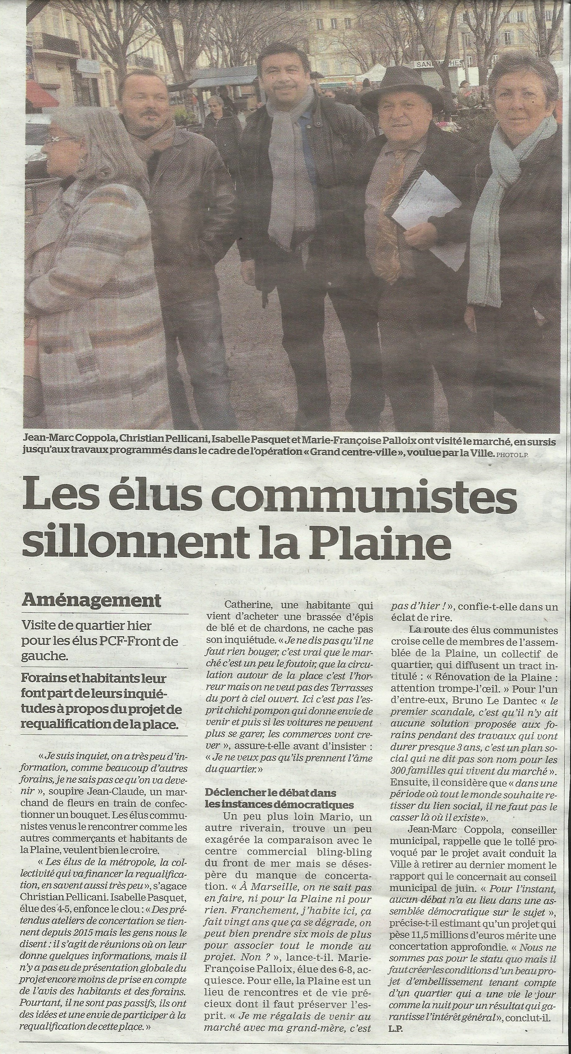 Place Jean Jaurès : la gentrification* en marche ou comment au travers d'un projet de rénovation la Mairie exclut par le prix !