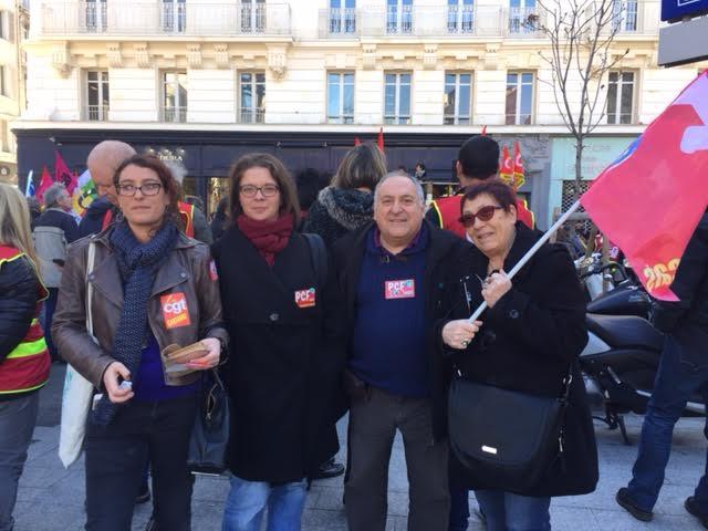 (4) 8 Mars : Les communistes  et le Front de Gauche mobilisés