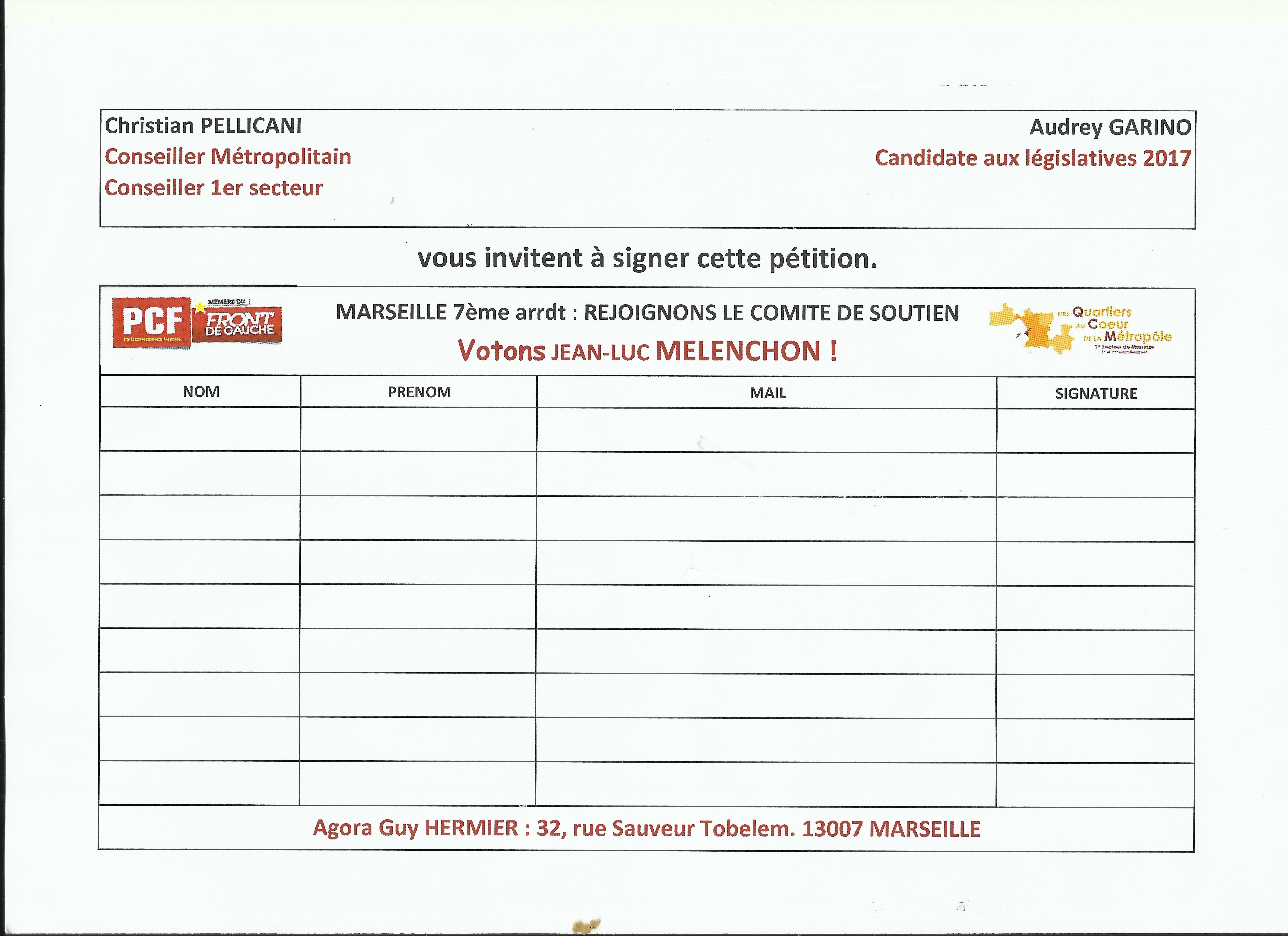Présidentielle : Votons Jean Luc Mélenchon  !
