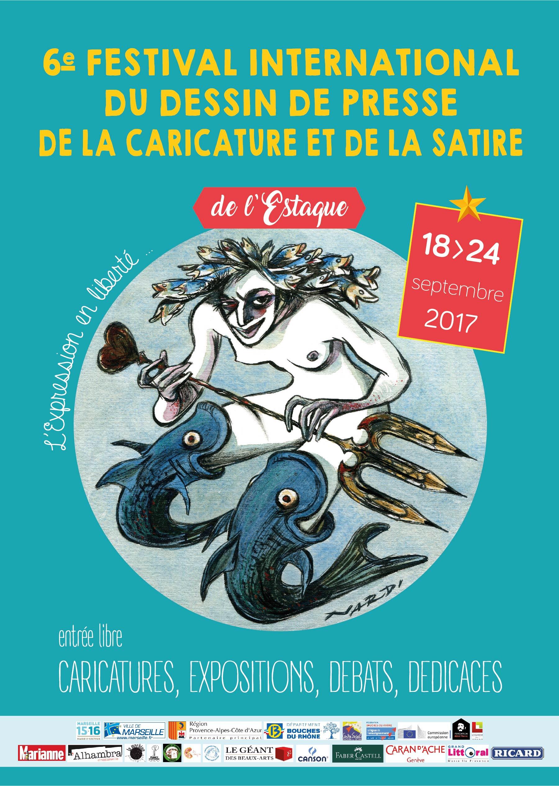 VIe Festival International du Dessin  de Presse de la Caricature et de la Satire de l'Estaque