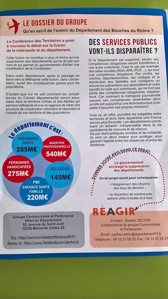 (2) Réformes institutionnelles : Réaction des élus au projet de fusion avec la Métropole AIX-MARSEILLE