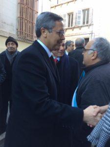 Avec l'Ambassadeur d'Alger