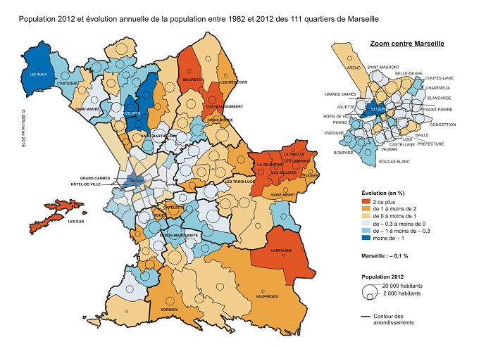 Démographie, attractivité territoriale, Marseille à la traîne