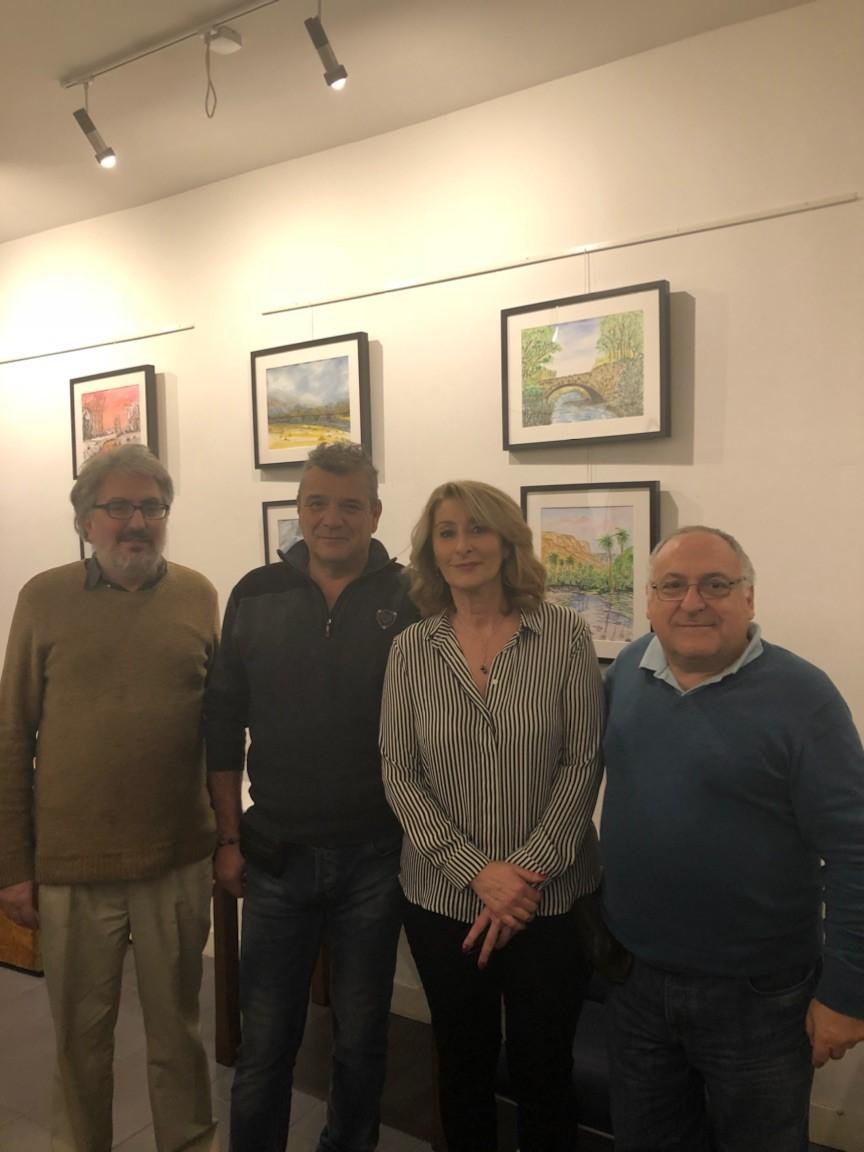 Invitation à découvrir l'exposition d'aquarelles d'Anne Marie CHERUBINI sur le thème de la Mer, du Littoral et de l'Eau