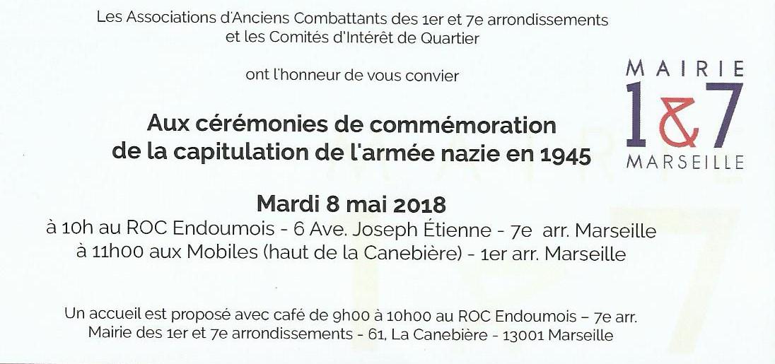 8 Mai : les militants communistes du 7ème seront présent à la commémoration de l'armistice de la deuxième guerre mondiale comme chaque année.