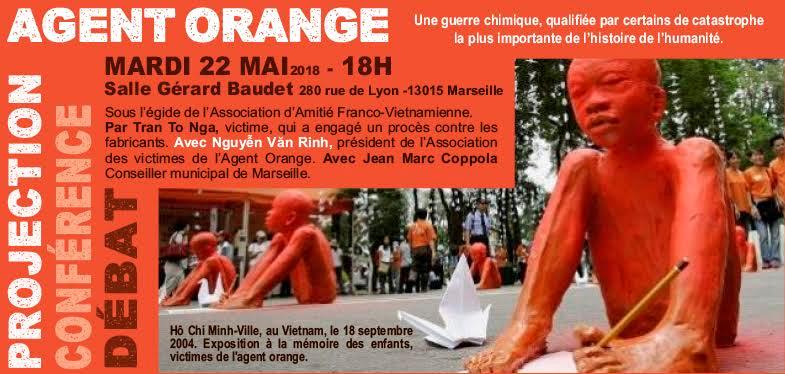 22 mai, 18h00 Film et conférence Agent Orange : livres et DVD sur la question 280, rue de Lyon Marseille