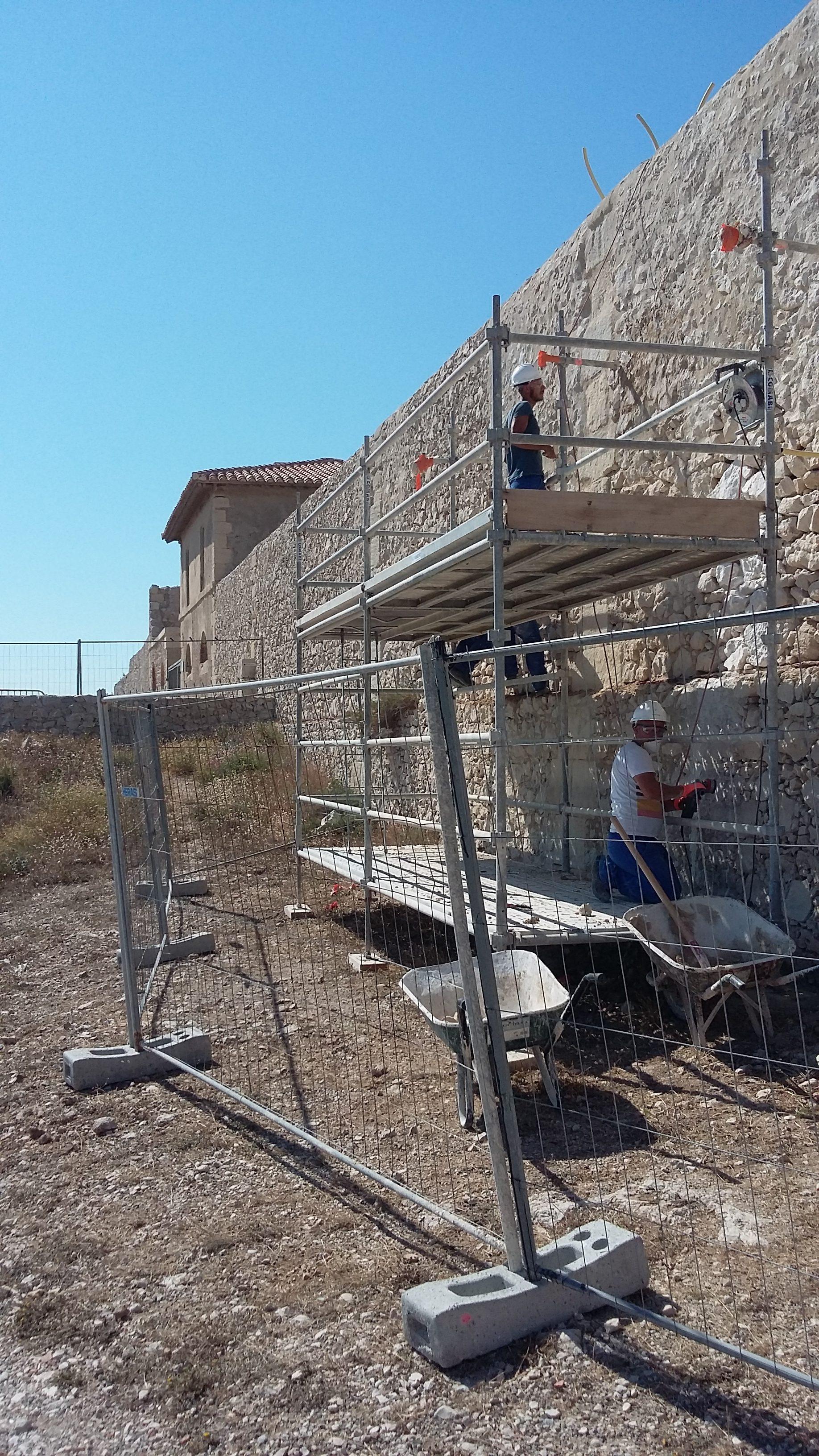 Frioul : La rénovation de l'Hôpital Caroline se poursuit