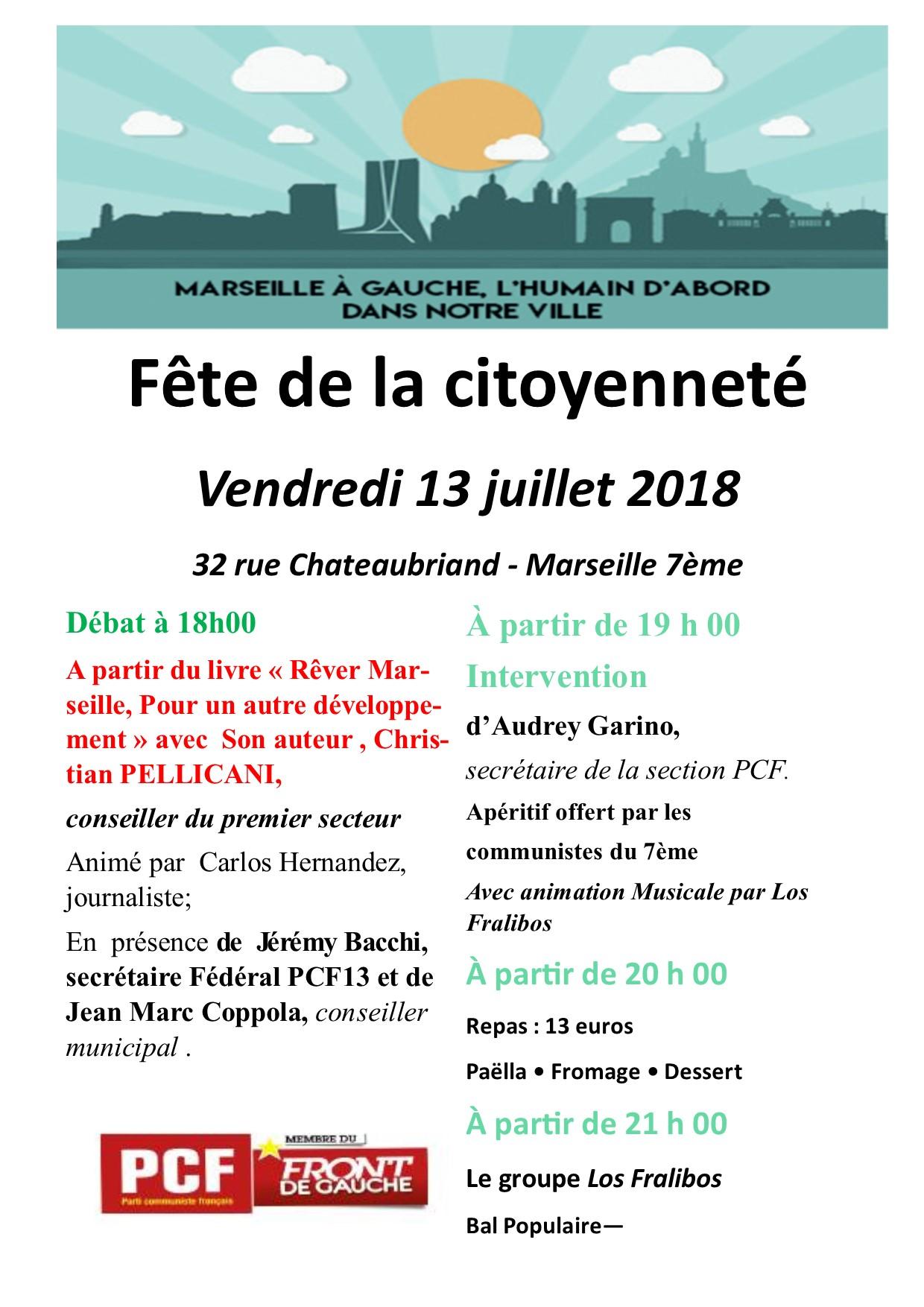 13 Juillet 2018 : inscription pour le débat de 18h00 autour du livre «Rêver Marseille, pour un autre développement»