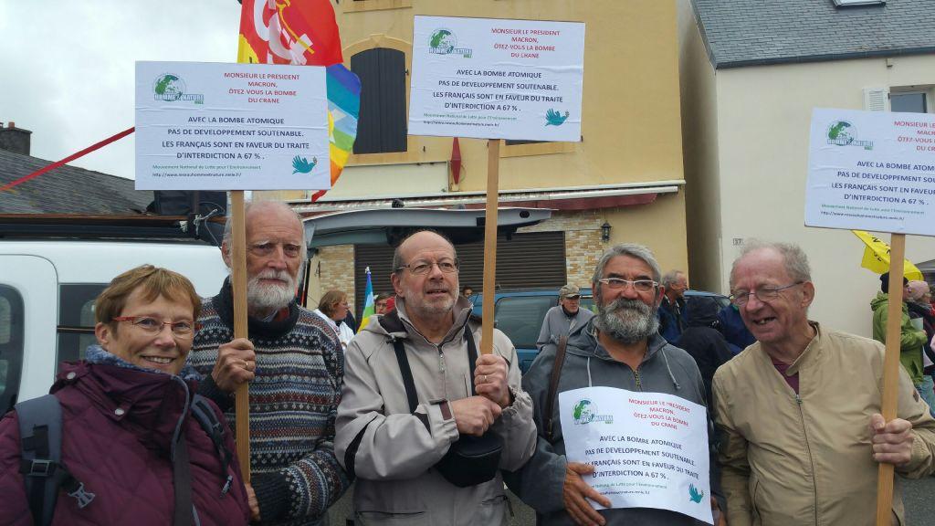 Le Réseau Homme&Nature manifeste pour le désarmement ce dimanche 14 octobre 2018 : Bravo !!!!!