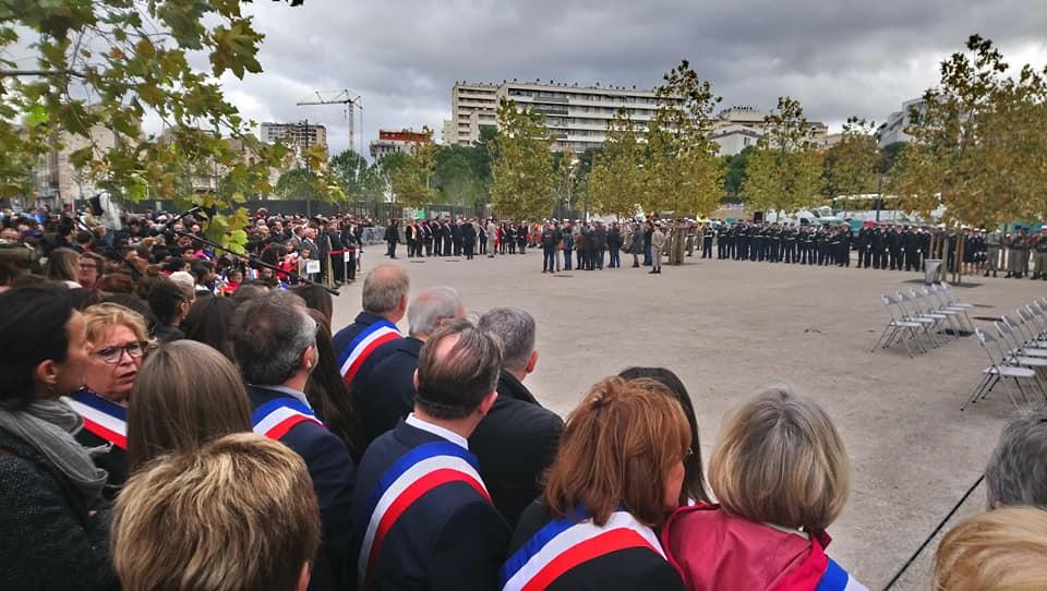 Commémoration du 11 novembre  2018 Porte d'Aix : La paix étrangement absente des discours des élus de droite de la Ville