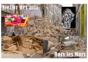 La Galerie de l'Atelier des Arts  a été  interdite d'activités suite à l'effondrement des immeubles  63 et 65 rue d'Aubagne .