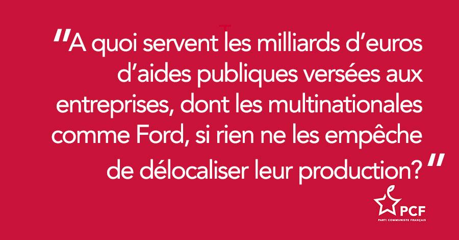 Délocalisation : Ford répond aux annonces de Macron en sacrifiant l'emploi