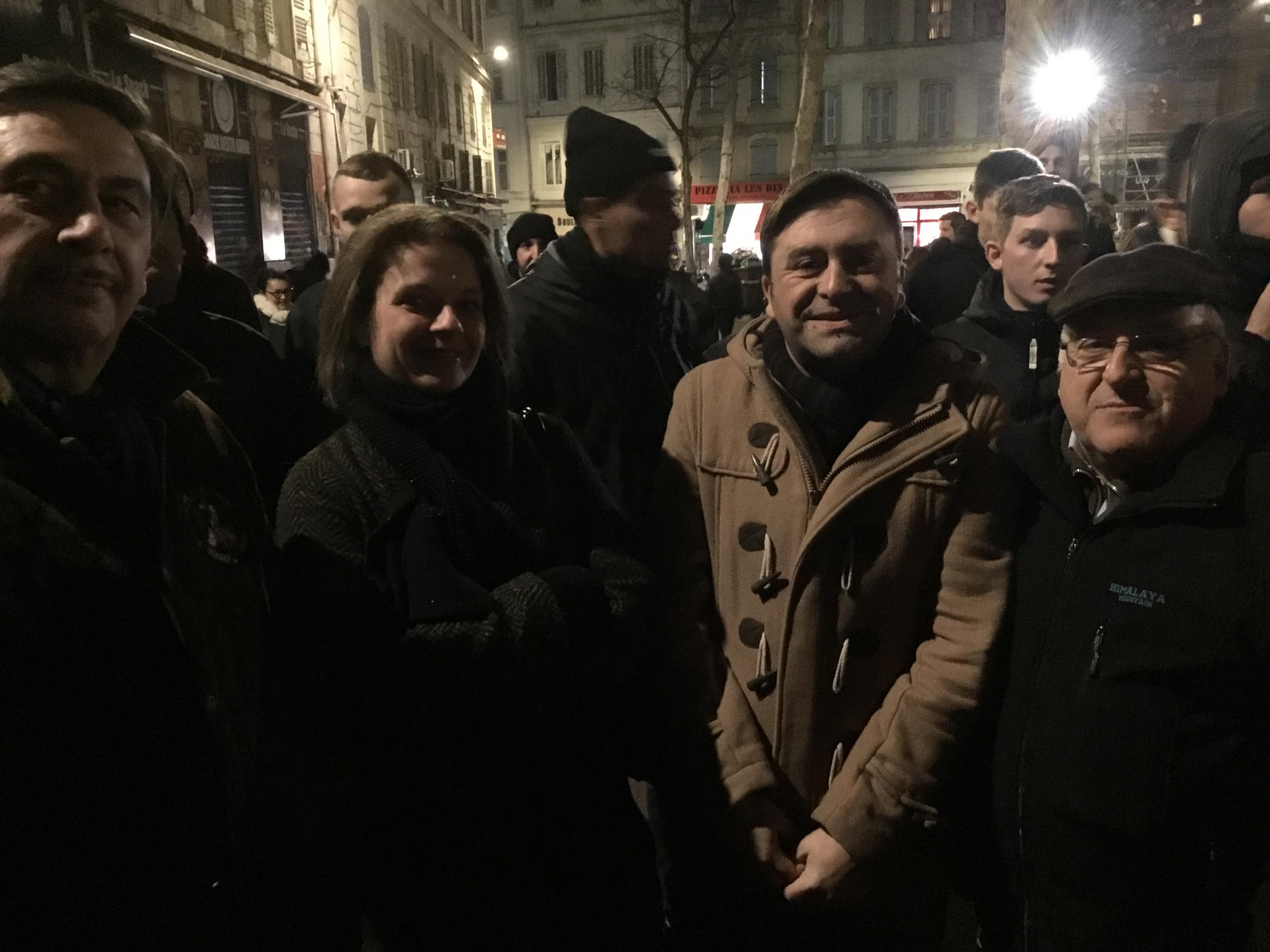Rue d'Aubagne : Présentation des vœux du «collectif du 5 novembre» réussi ce soir !