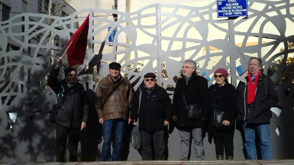 (1)  Square Louise Michel : Hommage  sur l'espace inauguré en juin 2018 avant le rendez-vous de  dimanche 13 janvier 19 Bd Dugommier à 10h00