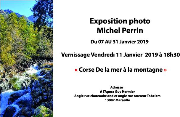 Déambulation Culturelle 2019 : Michel Perrin expose la Corse à l'Agora Guy Hermier à partir du 7 janvier