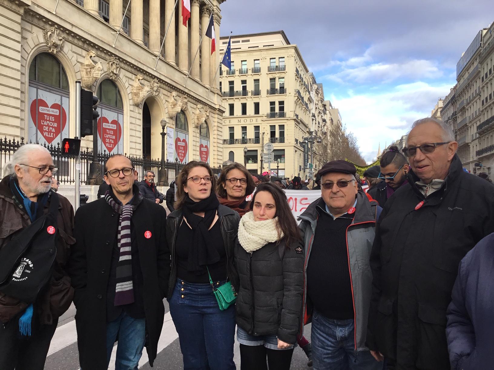 Succès de la Mobilisation de ce samedi 2 février 2019 « pour le logement et le droit à la ville » le « soutien au délogé.es et futur.es » pour obtenir vérité et justice pour le victimes de Noailles