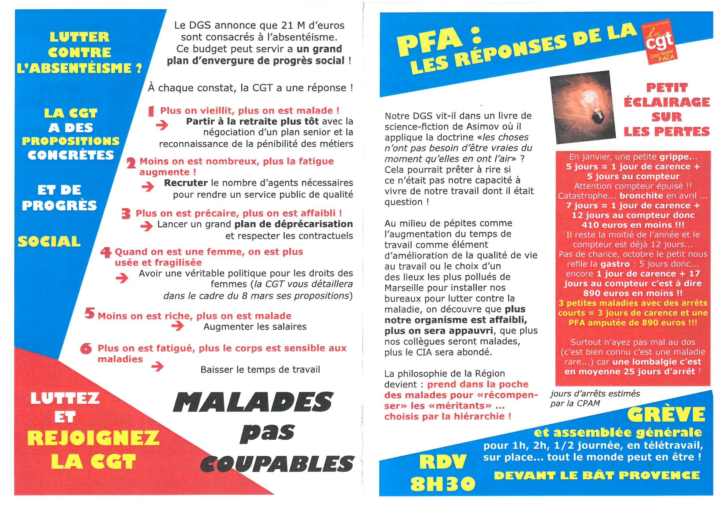 Conseil Régional Urgence Sociale : Grève et Rassemblement le 1er Mars 2019 devant l'immeuble «Provence» Bd de Dunkerque dès 8h00