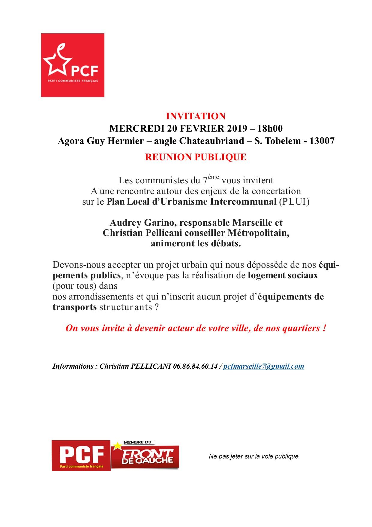 Plan Local d'Urbanisme Intercommunal : réunion publique le 20 février à l'Agora Guy Hermier à 18h00