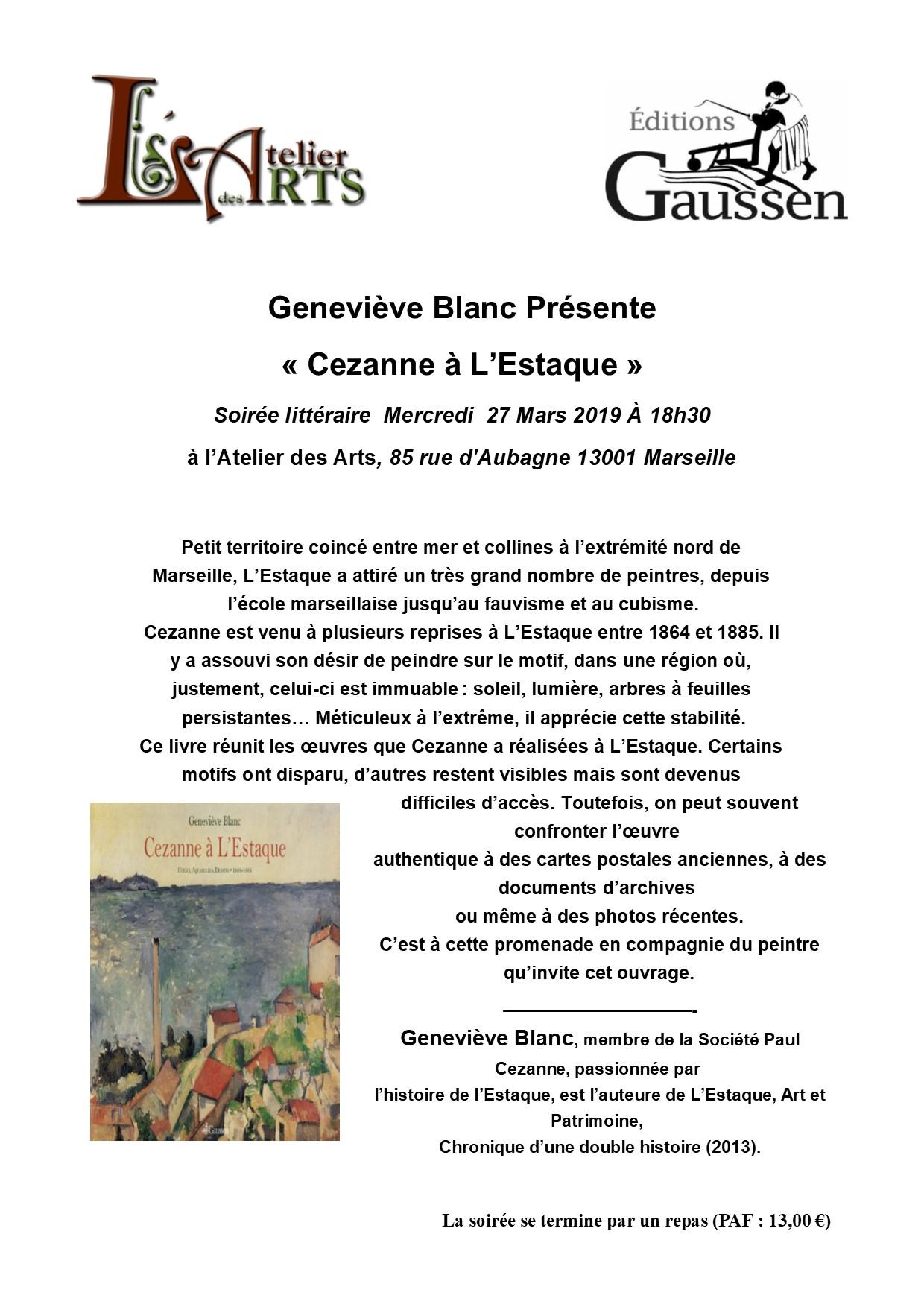Geneviève Blanc présente «Cézanne à l'Estaque»