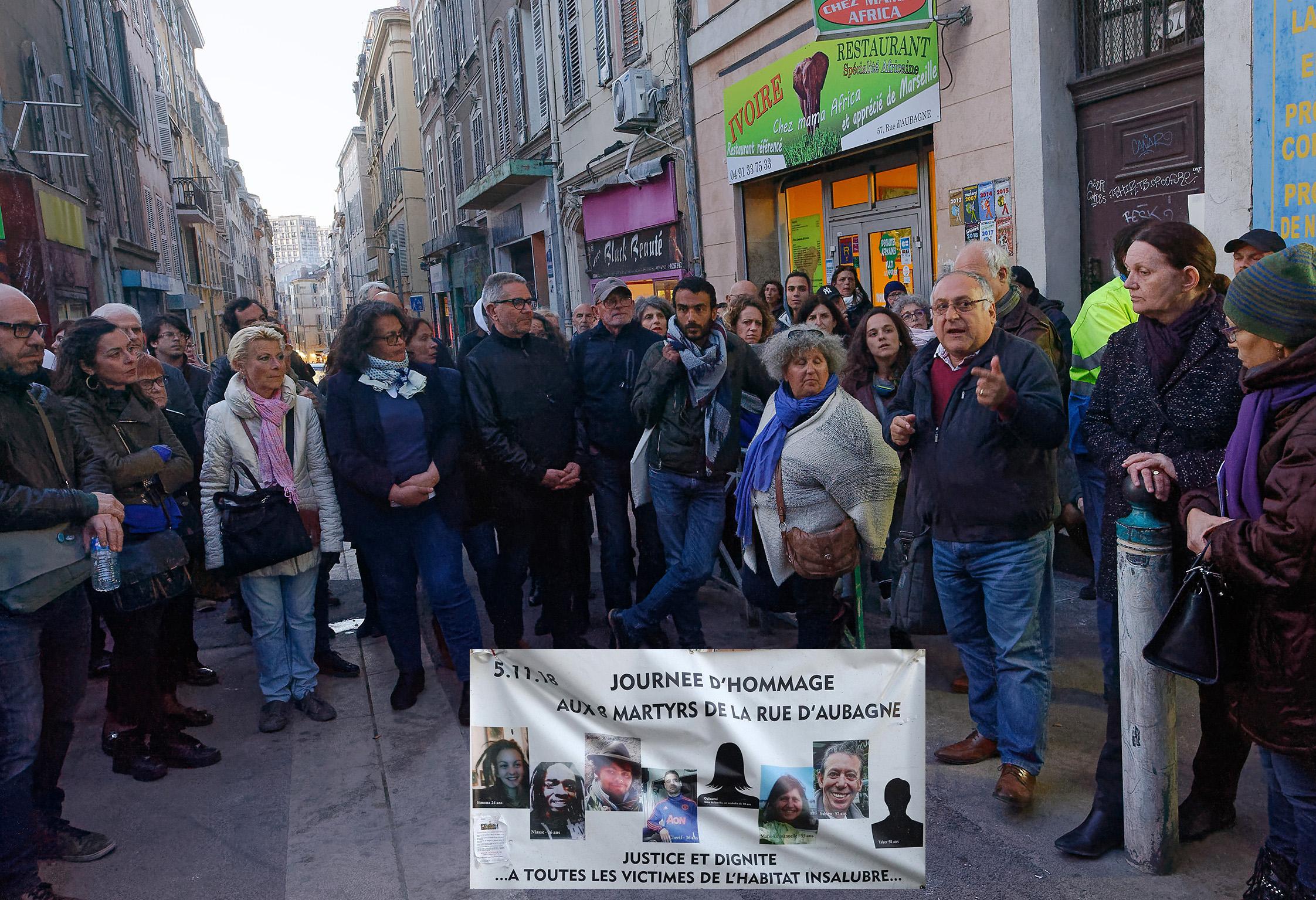 5 mars 2019 : la cérémonie en hommage aux victimes de l'effondrement des immeubles de la rue d'Aubagne