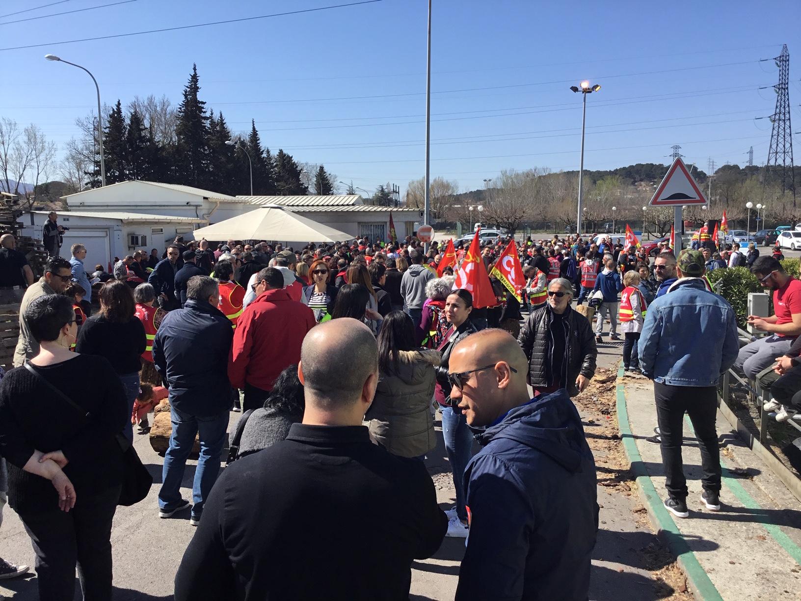 Environnement, Développement Economique et Social au cœur de la manifestation et du rassemblement à la centrale Thermique de Gardanne !