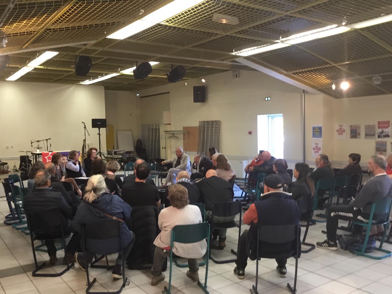 (5) Européennes 26 mai 2019 : Rencontre débat à Antibes avec  Marie Christine Vergiat, députée Européenne, Patricia Tejas, candidate et Cécile Dumas, conseillère municipale  sur les enjeux de l'élection