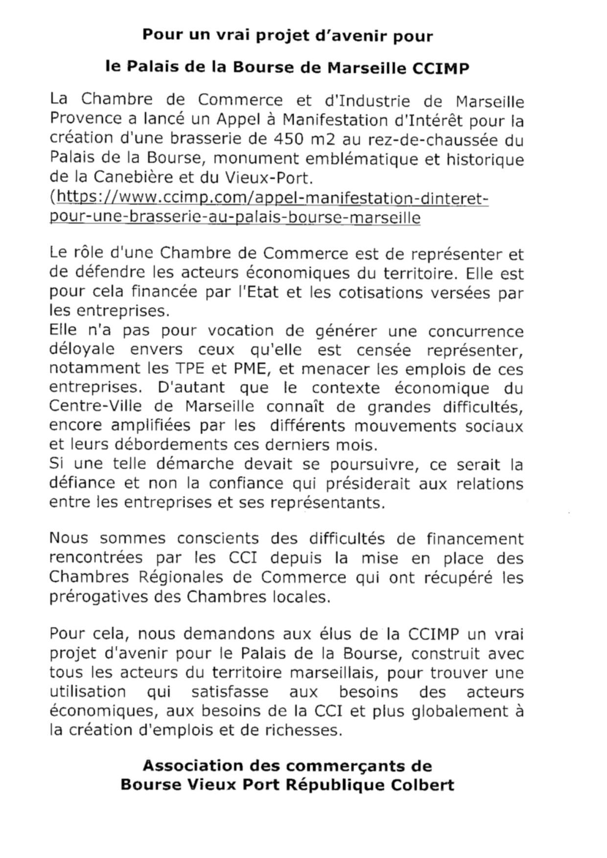 (4) Musée de la Marine : Les TPE et PME Contre le projet de la CCI dans le palais de la bourse