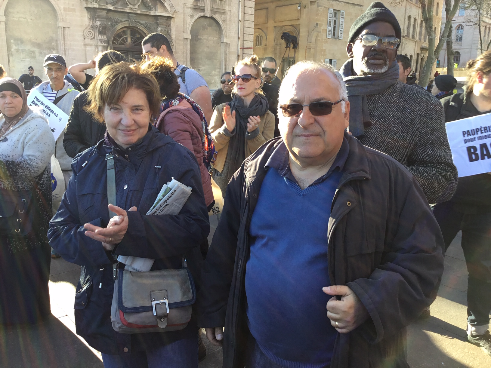 Drame du 5 Novembre 2018 : La mobilisation s'exprime ce jour devant la Mairie contre les reculs des secours aux délogés