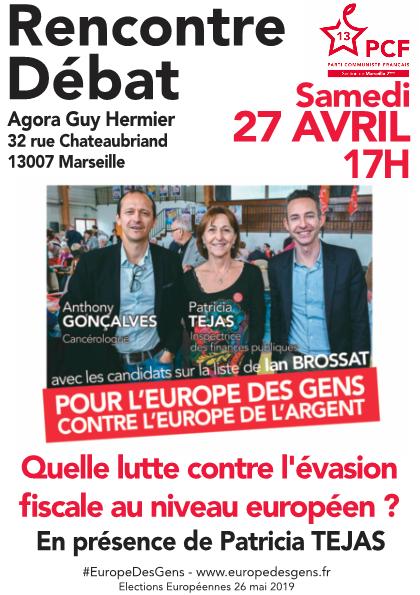 (8) Européennes : Rencontre débat le 27 avril 2019 à l'AGORA GUY HERMIER