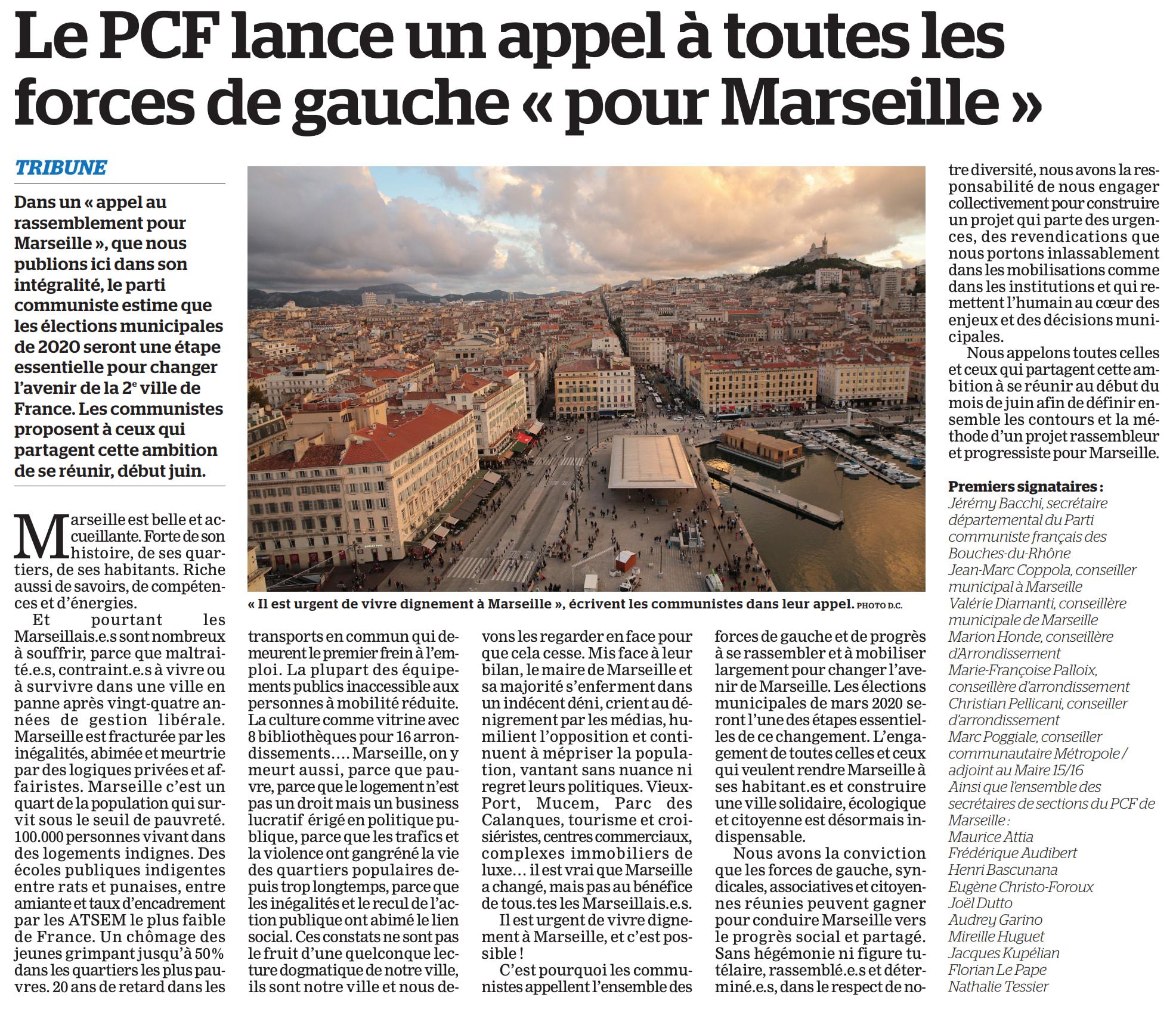 Marseille 2020 : Appel au rassemblement pour en finir avec Gaudin, Vassal et Gilles !