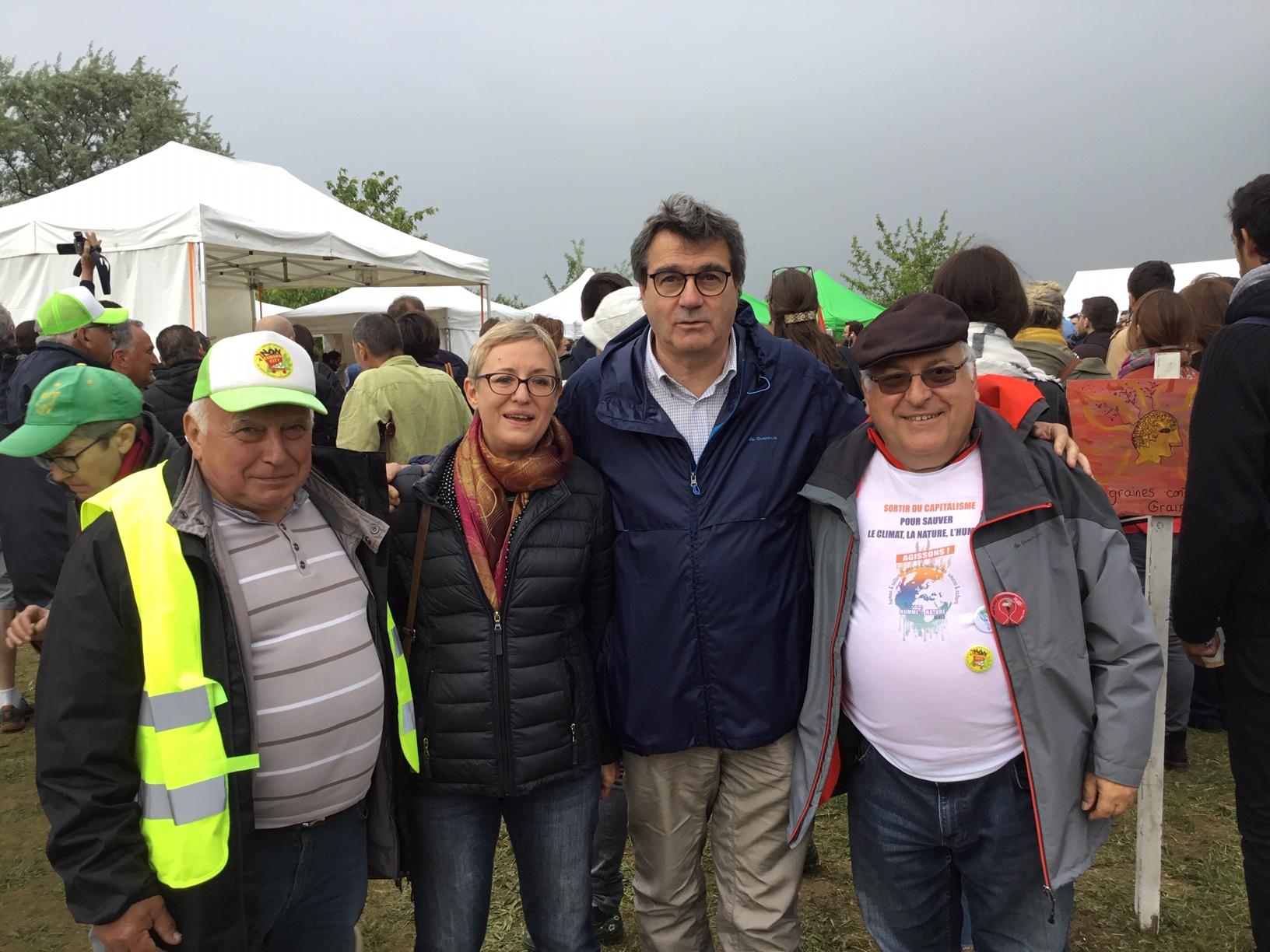 Un dimanche de lutte à Gonesse avec les associations et militants qui résistent  face au groupe Auchan et portent un projet alternatif !