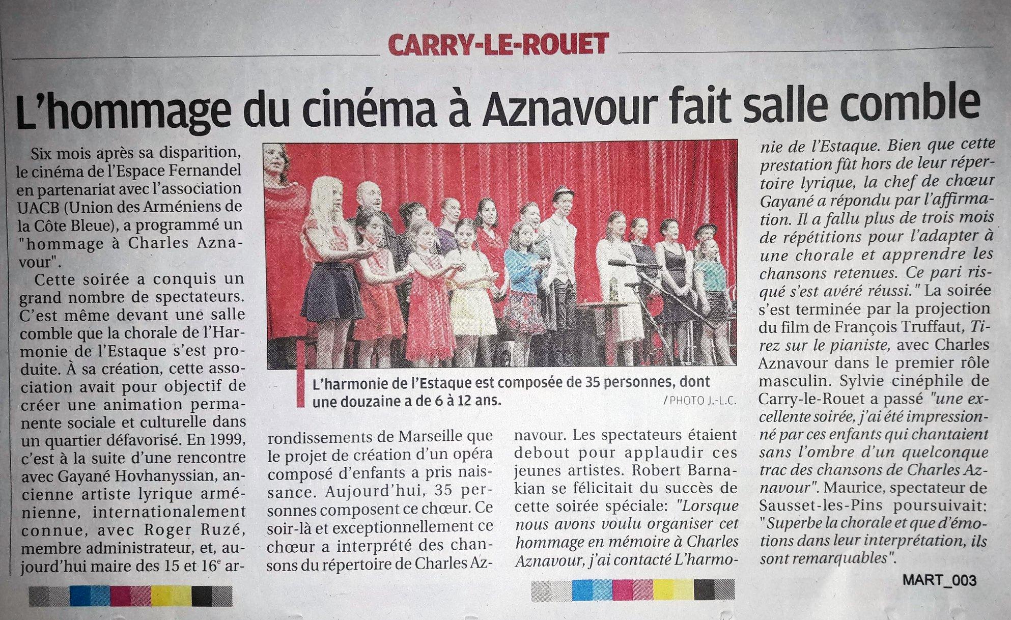 (1) La saison estivale pointe son nez : Gil Henri, président de l'Harmonie  de l'Estaque Gare nous invite à participer à leurs activités culturelles