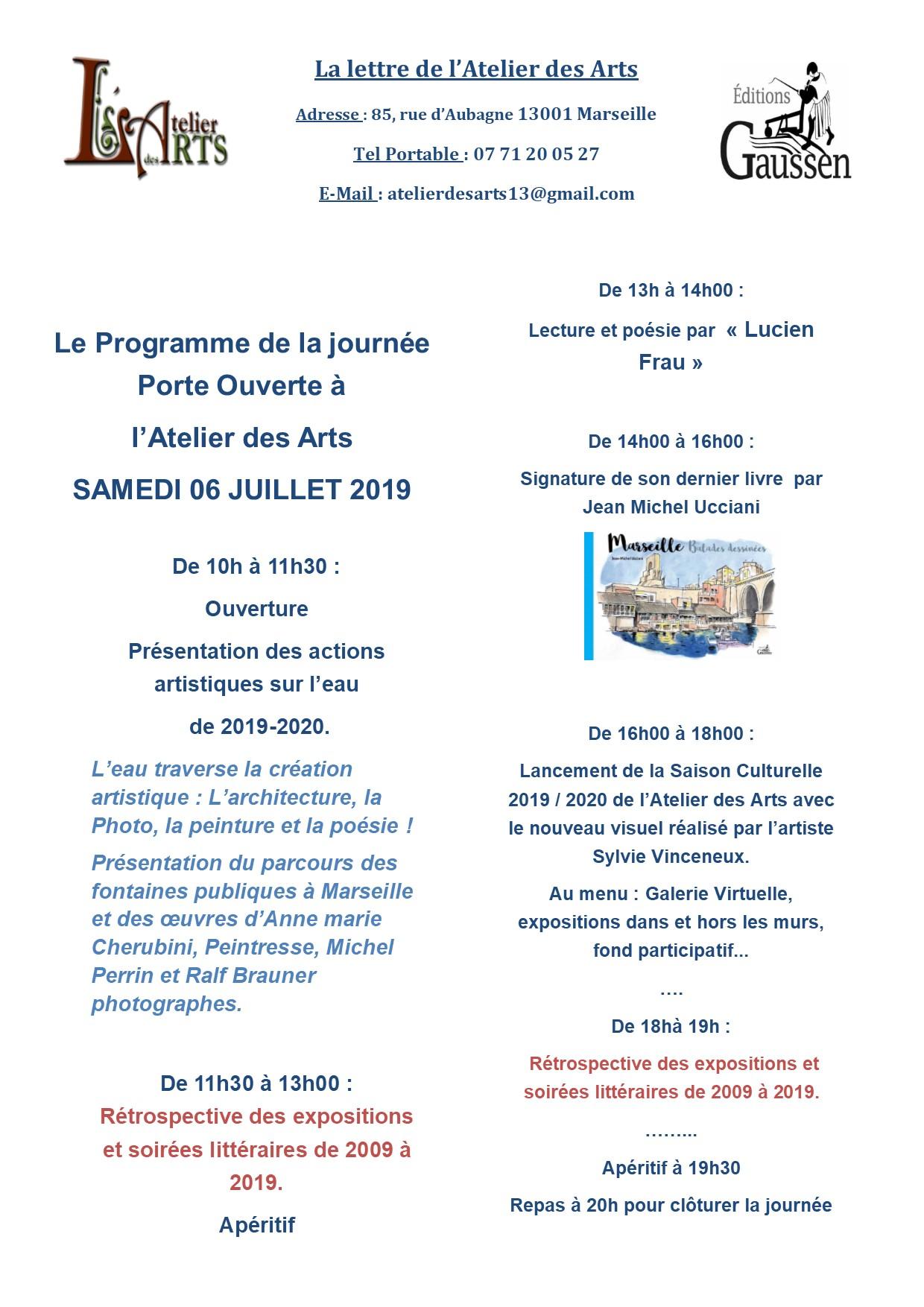 (1) 10 ans de la Galerie L'Atelier des ARTS : Samedi 6 juillet 2019 rétrospective et projets !