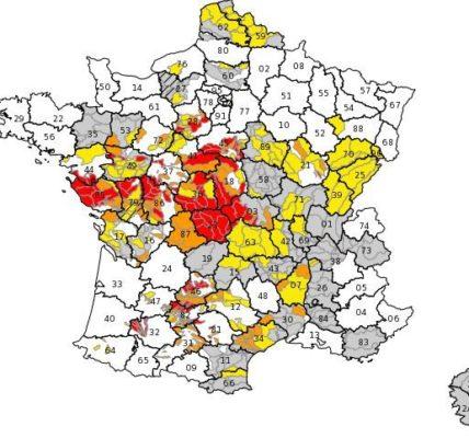 (1) Restrictions d'eau : 55 départements touchés par la sécheresse; en cause le climat et le modèle économique