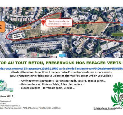 (2) Rassemblement contre le tout béton sur le site de l'ancienne voie U400 plateau GROGNARDE