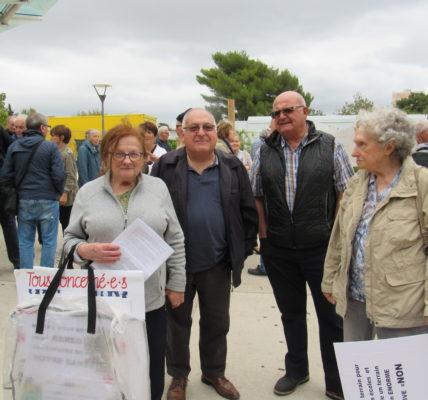 (2) «La Grande rencontre de nos quartiers 11-12em» :  Nous soutenons la mobilisation et nous  pensons qu'il faut intenter un recours juridique sur le permis de construire, en plus on est en pleine campagne des municipales et ce sujet doit être tranché par les Marseillais.e.s»