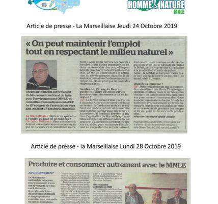 (3) Congrès du MNLE : Merci au quotidien la Marseillaise pour la couverture de notre Congrès !