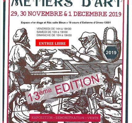 (1) Les métiers d'art à l'honneur pendant trois jours 19 cours d'Estienne d'Orves 13001 MARSEILLE
