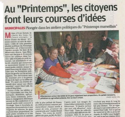 (7) Les Ateliers du «Printemps Marseillais» cap sur le programme