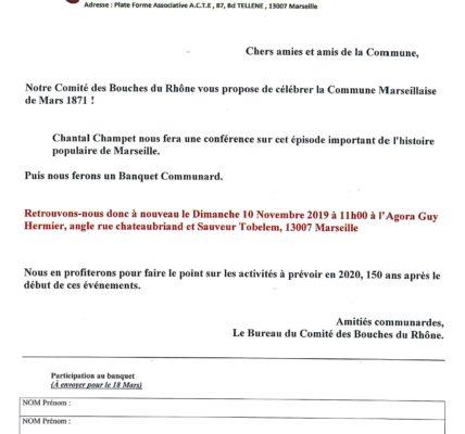 Conférence sur la Commune de Marseille (1870 – 1871) à l'Agora Guy Hermier