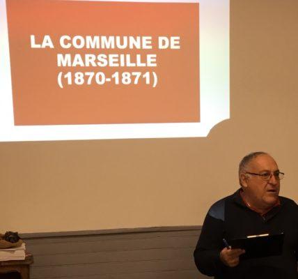 (2) Conférence sur la Commune de Marseille (1870 – 1871) à l'Agora Guy Hermier / brillante conférence de Chantal Champet