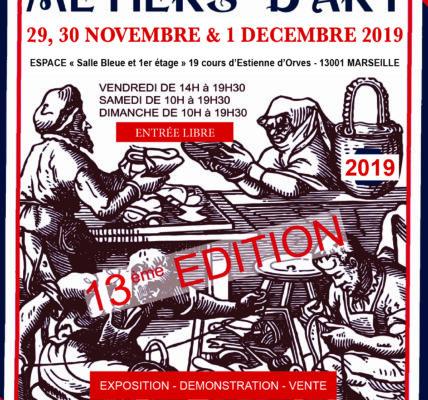 (1) Les métiers d'Art à l'honneur pendant trois jours du 29 novembre au 1er  décembre 2019 – 19 Cours Honoré d'Etienne d'Orves