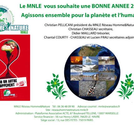 (4) MNLE Réseau Homme&Nature  : Vœux suite et poursuite jusqu'au 31 janvier