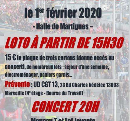 Retraites : Solidarité avec les Grévistes le 1er février 2020 à Martigues